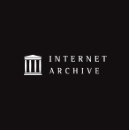 Black square containing Internet Archive logo