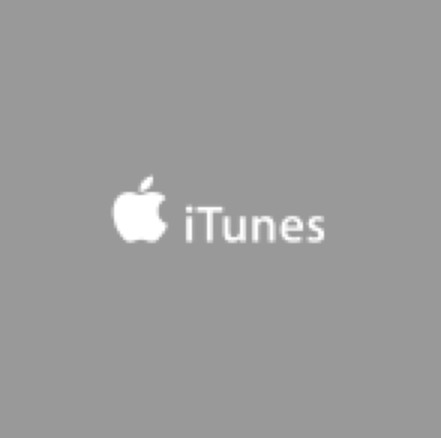 Gray square containing iTunes logo