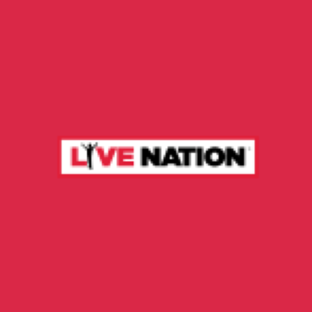 Red square containing Live Nation logo