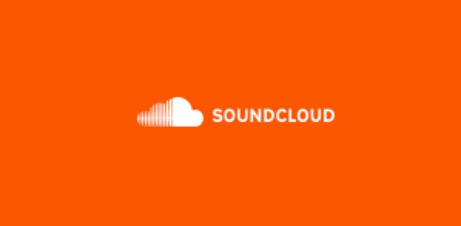 Orange square containing Soundcloud logo