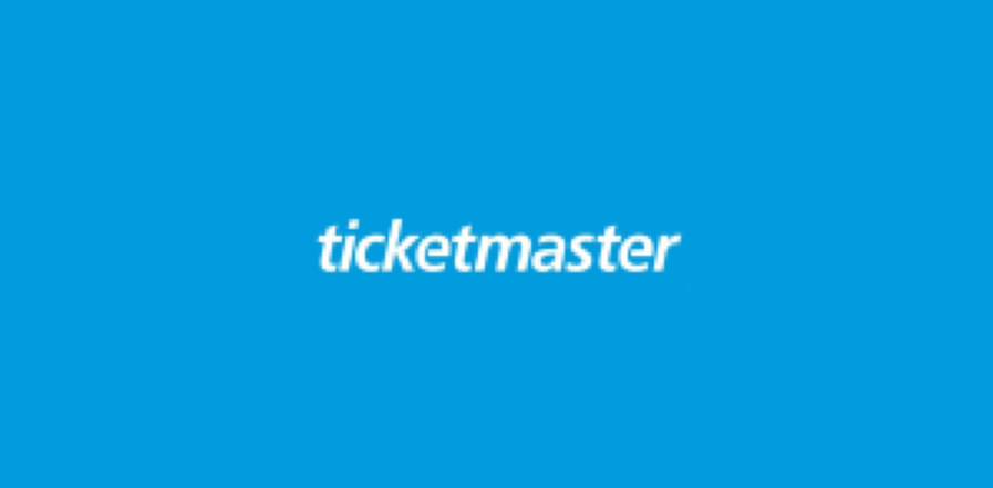 Blue square containing Ticketmaster logo