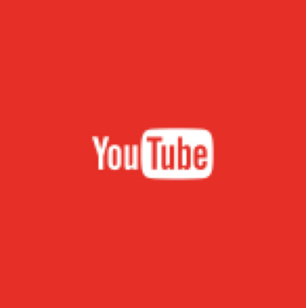 Red square containing YouTube logo