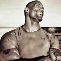 Image of Dwayne Johnson linking to their artist page due to link from them being at the top of the main table on this page