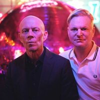 Image of Erasure linking to their artist page, present due to the event they are headlining being at the top of this page