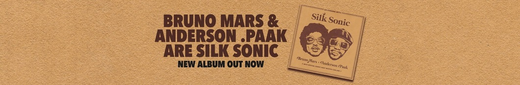Large banner image of Bruno Mars headlining the page