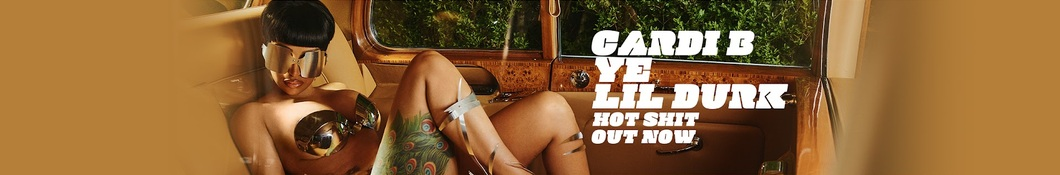 Large banner image of Cardi B headlining the page