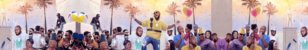 Large banner image of Davido linking to their artist page due to link from them being at the top of the main table on this page