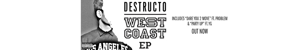 Large banner image of Destructo linking to their artist page due to them being the most commonly displayed artist on this title page