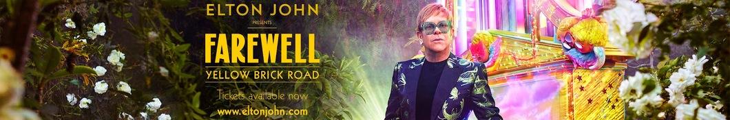 Large banner image of Elton John headlining the page