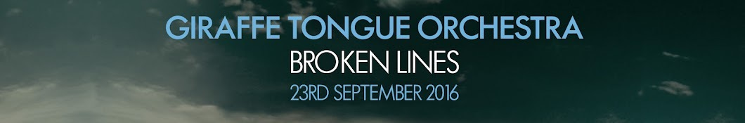 Large banner image of Giraffe Tongue Orchestra headlining the page
