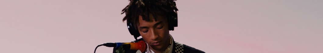 Large banner image of Jaden headlining the page