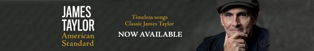 Large banner image of James Taylor headlining the page