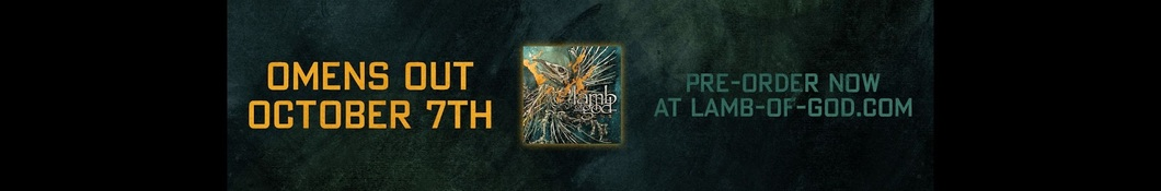 Large banner image of Lamb of God headlining the page