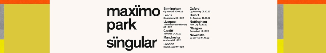 Large banner image of Maximo Park linking to their artist page due to them being the most commonly displayed artist on this title page