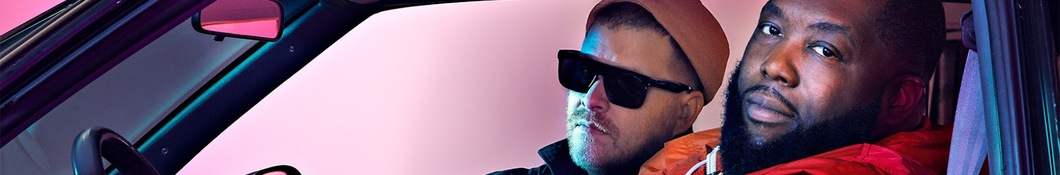 Large banner image of Run the Jewels headlining the page