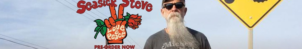 Large banner image of Seasick Steve headlining the page