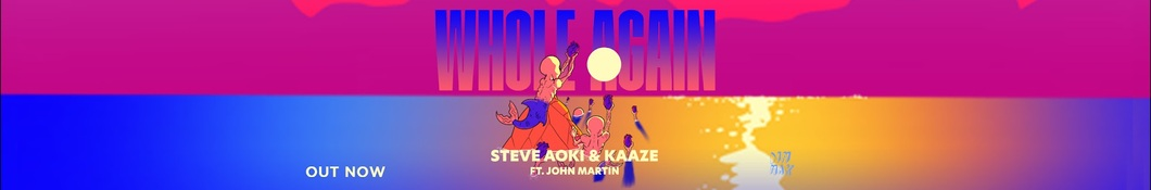 Large banner image of Steve Aoki linking to their artist page due to link from them being at the top of the main table on this page