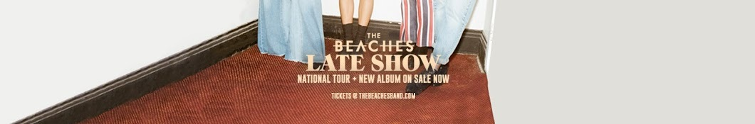 Large banner image of The Beaches linking to their artist page due to them being the most commonly displayed artist on this title page