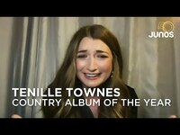 Thumbnail for the Tenille Townes - Accepts her award for country album of the year | Juno Awards 2021 link, provided by host site