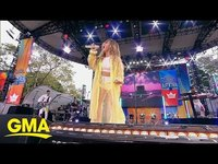 And sabrina carpenter give a special live performance of on my way gma thumb