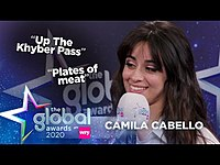 Thumbnail for the Camila Cabello - Attempts Cockney Rhyming Slang! 😳   Heart link, provided by host site