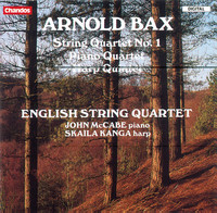 Thumbnail for the Arnold Bax - Bax: String Quartet No. 1, Harp Quintet & Piano Quartet link, provided by host site