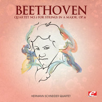 Thumbnail for the Hermann Schneider Quartet - Beethoven: Quartet No. 5 for Strings in A Major, Op. 18 (Digitally Remastered) link, provided by host site