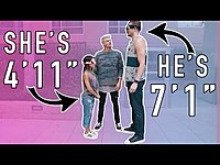 Thumbnail for the Mark Dohner - BLIND DATE! 7 FOOT TALL GUY MEETS 4 FOOT TALL GIRL! link, provided by host site