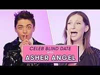 Thumbnail for the Asher Angel - Blind Date With a Superfan | Celeb Blind Date link, provided by host site