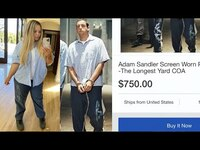 Thumbnail for the Trisha Paytas - buying Adam Sandler's prison outfit for $750 link, provided by host site