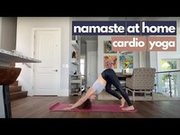 Thumbnail for the Kylie Morgan - Cardio Yoga I Namaste At Home I (#WithMe) link, provided by host site