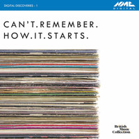 Thumbnail for the Michael Finnissy - Digital Discoveries, Vol. 1: Can't.Remember.How.It.Starts link, provided by host site