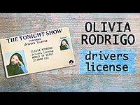 Thumbnail for the Olivia Rodrigo - Drivers license (TV Debut) link, provided by host site