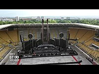 Thumbnail for the Rammstein - Europe Stadium Tour (Time Lapse) link, provided by host site