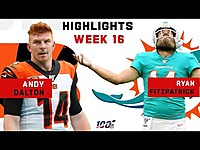 Thumbnail for the Dalton - & Fitzpatrick Combine for 800+ Yds & 8 TDs | NFL 2019 Highlights link, provided by host site
