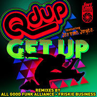 Thumbnail for the Q'd Up - Get up Remixes link, provided by host site