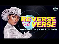Thumbnail for the Megan Thee Stallion - Guesses Her Song Played Backwards | Reverse The Verse link, provided by host site