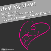 Thumbnail for the Kerri Chandler - Heal My Heart (Fanatix & Dazzle Drums Remixes) link, provided by host site