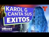 Thumbnail for the Karol G - Interpreta sus éxitos en los Premios Billboard 2021 | Telemundo Entretenimiento link, provided by host site