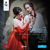 Thumbnail for the Boris Brott - La battaglia di Legnano, Act II: Le mie possenti squadre (Federico, Chorus, Rolando, Arrigo, Podestà) link, provided by host site