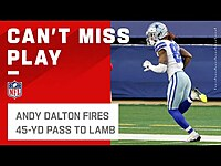 Thumbnail for the Dalton - Lets It FLY to CeeDee Lamb for 45 Yds! link, provided by host site