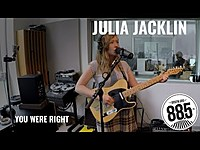 "Thumbnail for the Julia Jacklin - Live @ 885FM || ""You Were Right"" link, provided by host site"