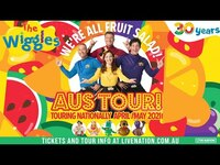 Thumbnail for the The Wiggles - LIVE around Australia! 🎙️ April & May 2021 🍎🍌We're All Fruit Salad Tour! 🍉🍇 Kids Songs link, provided by host site
