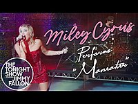 Thumbnail for the Miley Cyrus - Maneater link, provided by host site
