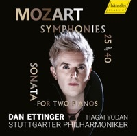 Thumbnail for the Dan Ettinger - Mozart: Symphonies Nos. 25 and 40 & Sonata for 2 Pianos, K. 448 link, provided by host site