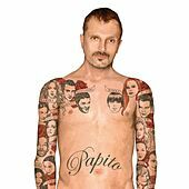 Image of Miguel Bosé linking to their artist page due to link from them being at the top of the main table on this page