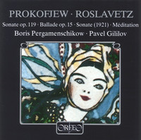 Thumbnail for the Boris Pergamenschikow - Prokofiev & Roslavetz: Works for Cello & Piano link, provided by host site