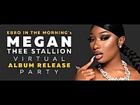 Thumbnail for the Megan Thee Stallion - Reacts To Grammy Nomination, Speaks On Tory Lanez Diss + Social Media link, provided by host site