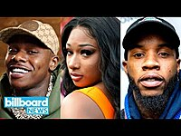 Thumbnail for the Megan Thee Stallion - Reacts to Tory Lanez & DaBaby Collaboration | Billboard News link, provided by host site