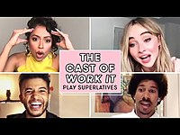 Thumbnail for the Liza Koshy - Sabrina Carpenter, and the Cast of WORK IT Play Superlatives   Seventeen link, provided by host site